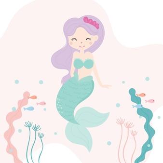 Schattige kleine zeemeermin