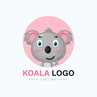 Schattige koala logo ontwerp