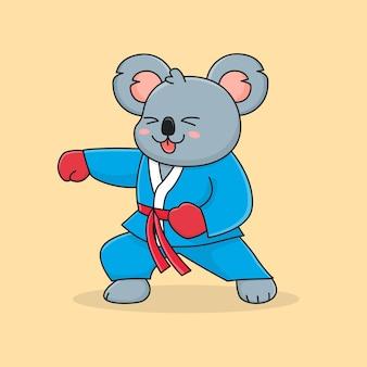 Schattige koala ponsen