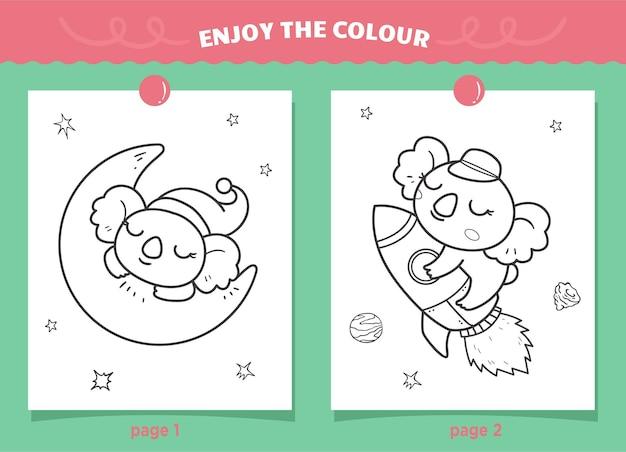 Schattige koala's kleuren voor kinderen