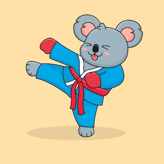 Schattige koala schoppen