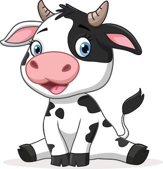 Schattige koe cartoon afbeelding