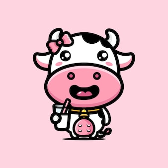 Schattige koeien genieten van verse melk