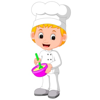 Schattige koks maken brood