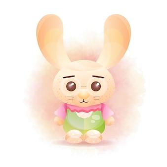 Schattige konijntjesillustratie