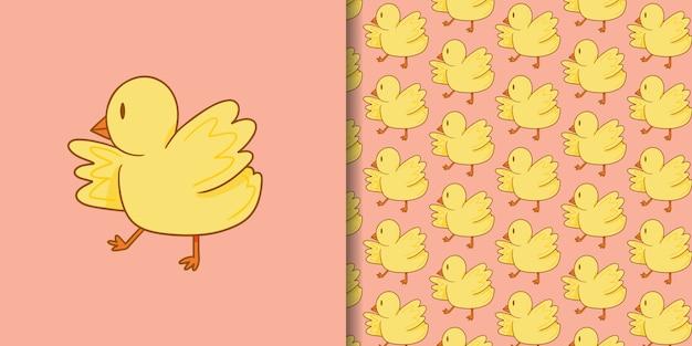 Schattige kuikens cartoon
