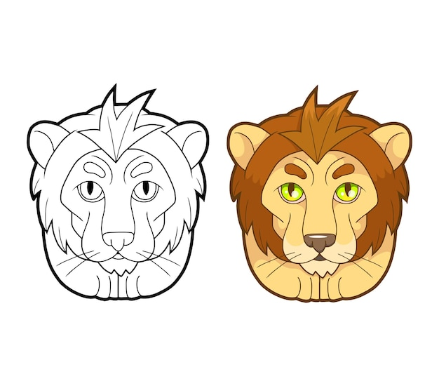 Schattige leeuw