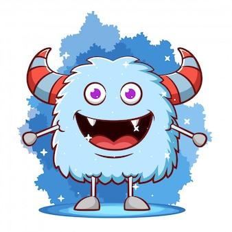 Schattige monster cartoon