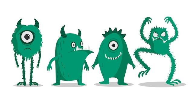 Schattige monsters doodles