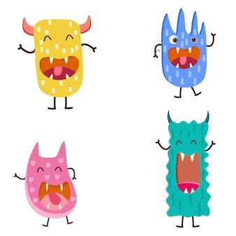 Schattige monsters voor kinderen