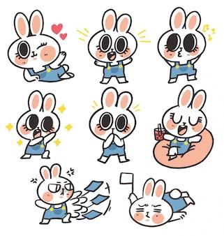 Schattige mooie bunny girl