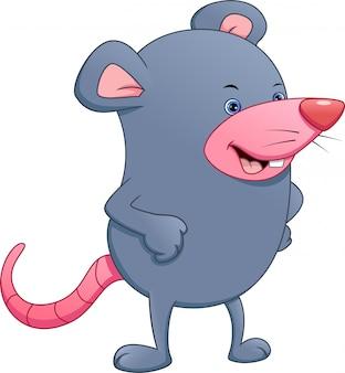 Schattige muis cartoon