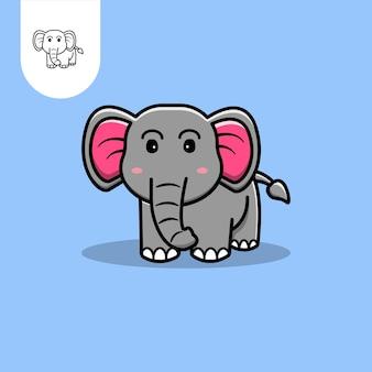 Schattige olifant