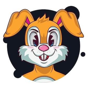 Schattige oranje konijn avatar