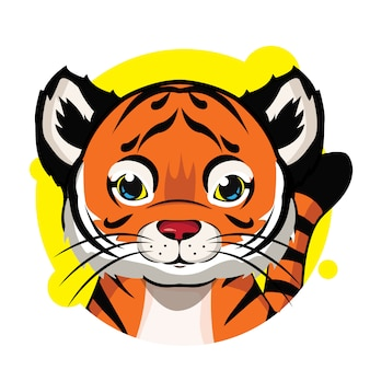 Schattige oranje tijger avatar
