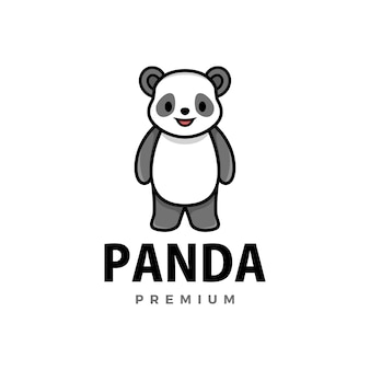Schattige panda cartoon logo pictogram illustratie
