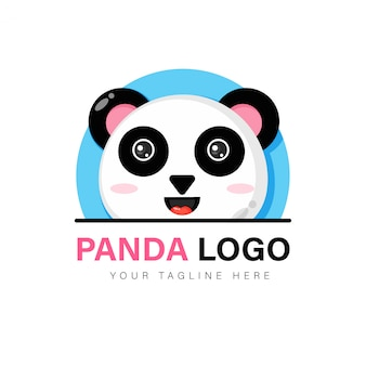 Schattige panda logo ontwerp