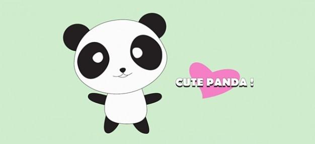 Schattige panda stripfiguur