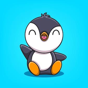 Schattige pinguïn cartoon vectorillustratie