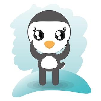Schattige pinguïn dierlijk wild