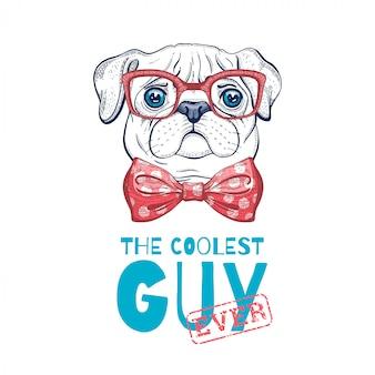 Schattige pug hond illustratie