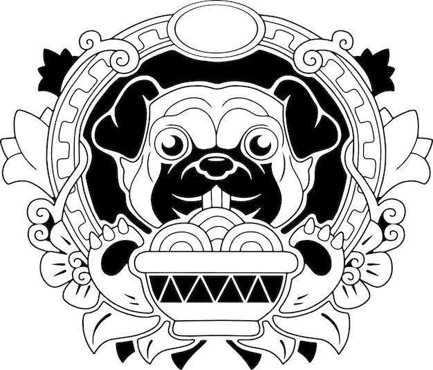 Schattige pug