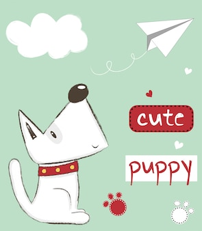 Schattige puppy illustratie