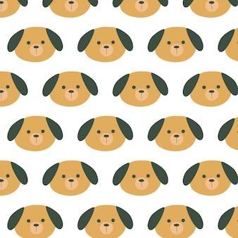Schattige puppy patroon