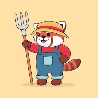 Schattige rode panda boer