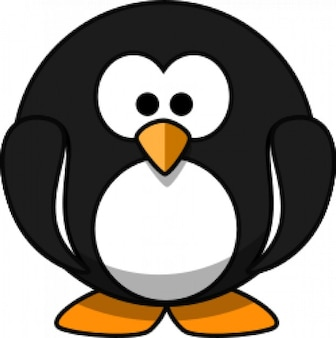 Schattige ronde cartoon penguin