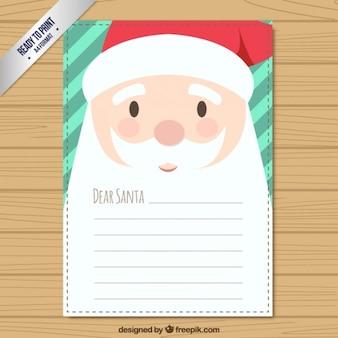 Schattige santa claus wens lijst