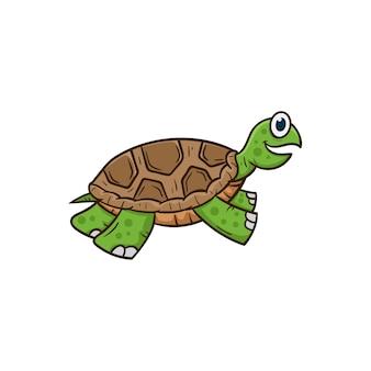 Schattige schildpad cartoon vectorillustratie