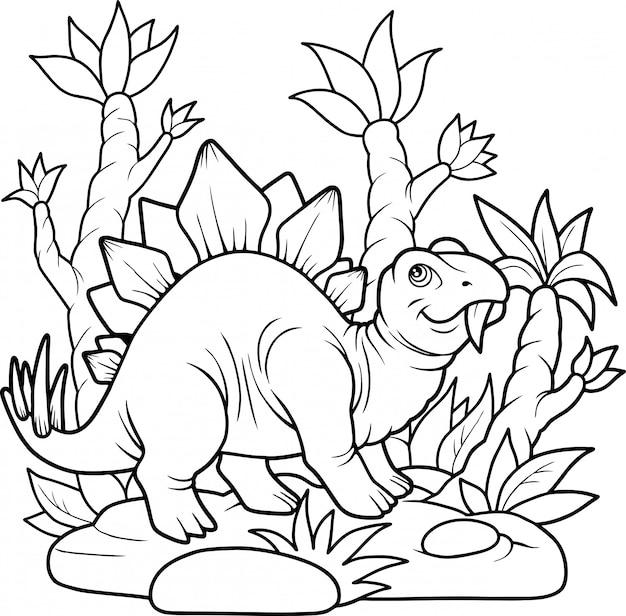 Schattige stegosaurus