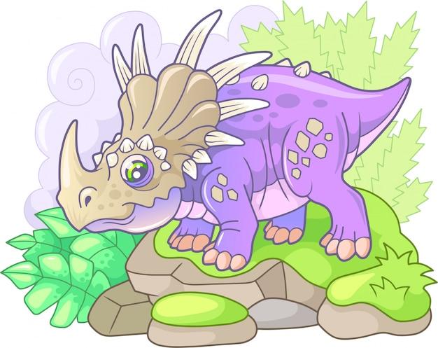 Schattige styracosaurus