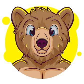 Schattige teddybeer avatar