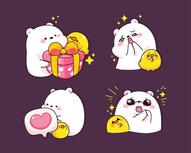 Schattige teddybeer karakter cartoon afbeelding