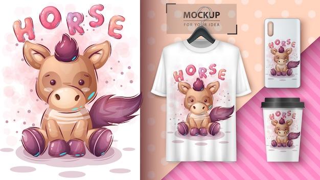 Schattige teddybeer poster en merchandising.
