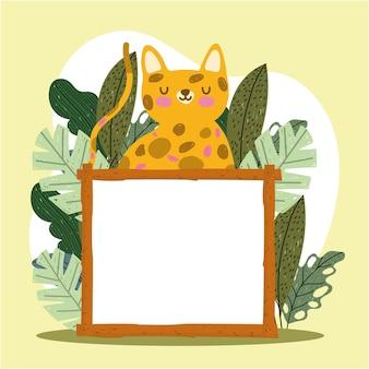 Schattige tijger en bord