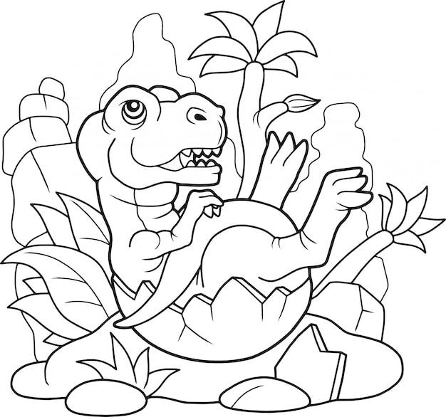 Schattige tyrannosaurus