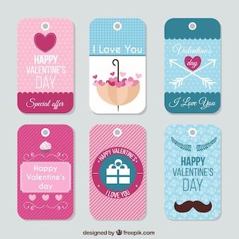Schattige valentijnsdag labels