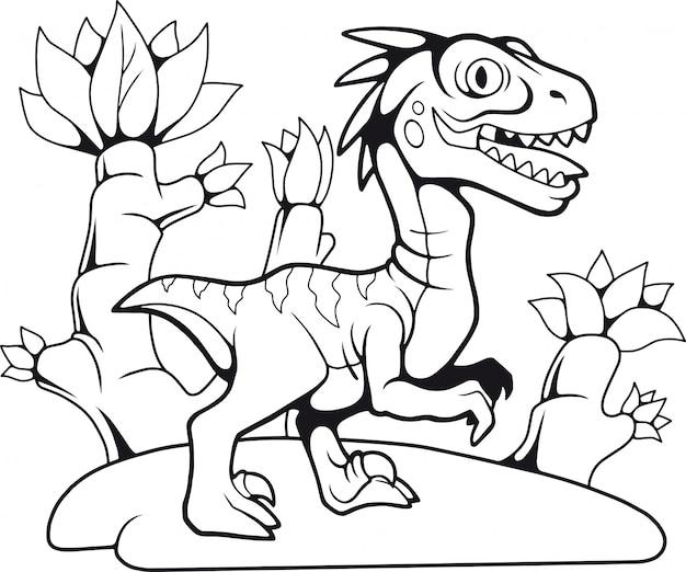 Schattige velociraptor