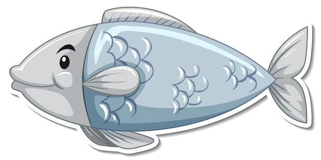 Schattige vis zee dier cartoon sticker