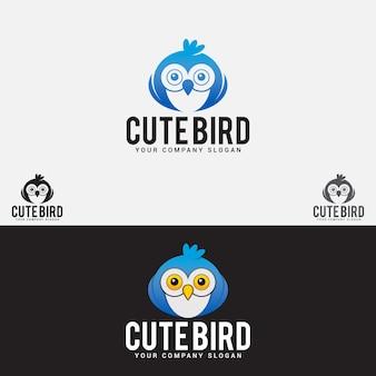 Schattige vogel logo