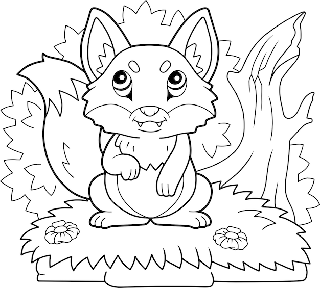 Schattige vos illustratie