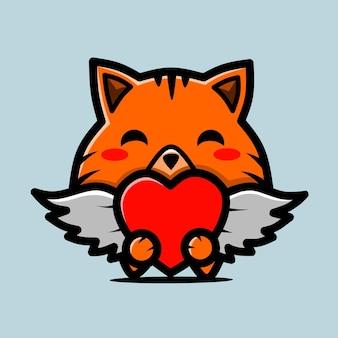 Schattige vos karakter chibi ontwerpen