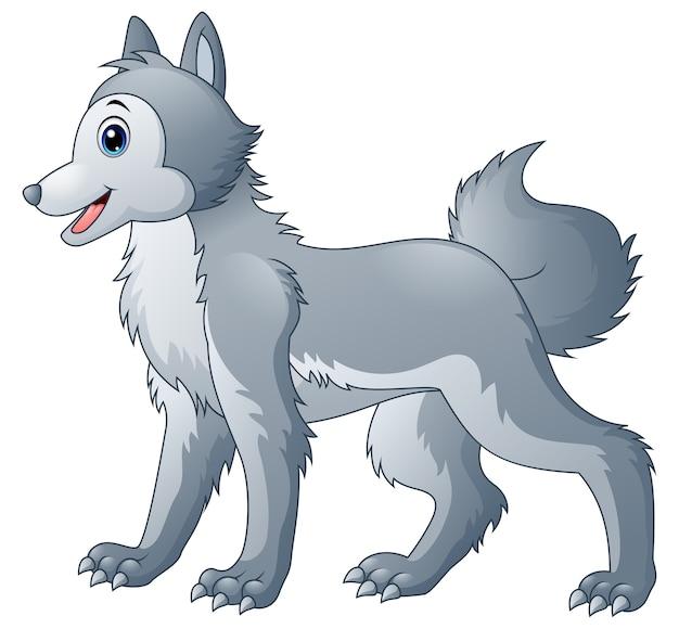 Schattige wolf cartoon
