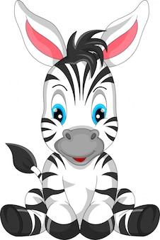 Schattige zebra cartoon
