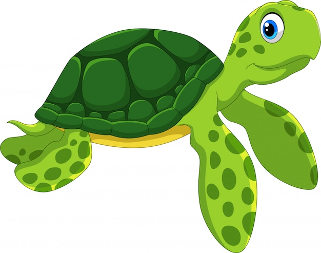 Schattige zeeschildpad cartoon