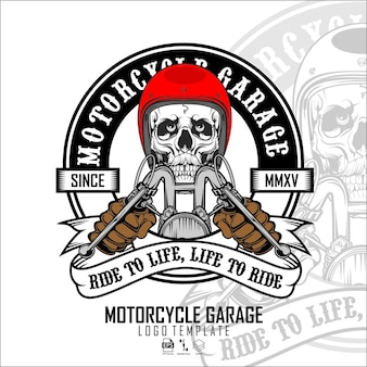 Schedel biker logo sjabloone