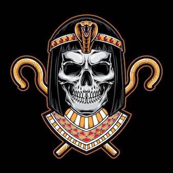 Schedel cleopatra hoofd logo